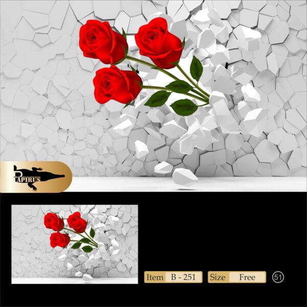 پوستر پاپیروس طرح گل