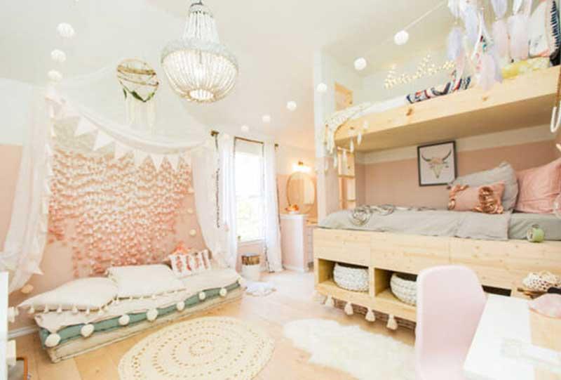 ۱۱ ایده جذاب برای تزئین اتاق خواب دخترانه