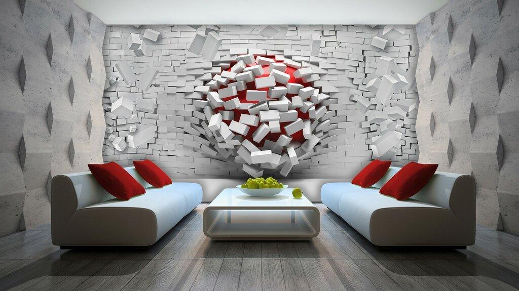 کاغذ دیواری سه بعدی واقعی