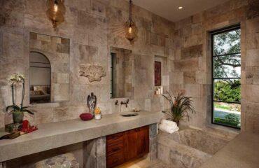 طراحی دیوار خانه با سنگ آنتیک